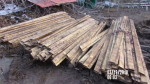 """67 rails - 4 1/2"""" tall by 86 """" long (7'2"""") Poly grate rails @ $1 per foot"""