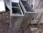 """pic 2 - 1 - single sided stainless nursery feeders 24"""" wide by 10"""" deep by 28"""" tall @ $75 each"""