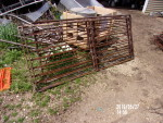 "Pic 3 -  16 gates 31"" tall by 6' ft. 2/12"" long  (74 1/2"") horizontal bars - solid rod.  bottom bar is 1"" solid round  -$32 each -"