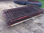 """pic 4 - 8 gates 36 1/2"""" tall by 84"""" to 88"""" long - 3  1/2"""" spacing . solid square and solid rods - $45 each"""