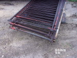 """pic 3 - 8 gates 36 1/2"""" tall by 84"""" to 88"""" long - 3  1/2"""" spacing . solid square and solid rods - $45 each"""
