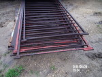 """pic 2 - 8 gates 36 1/2"""" tall by 84"""" to 88"""" long - 3  1/2"""" spacing . solid square and solid rods - $45 each"""