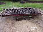 """pic1 - 8 gates 36 1/2"""" tall by 84"""" to 88"""" long - 3  1/2"""" spacing . solid square and solid rods - $45 each"""