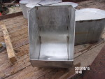 "Pic 4 of 6 - 34 sow feeders - $35 each - 14"" wide by 16"" deep by 23"" tall.  Stainless steel with pre drilled holes."