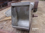 "Pic 5 of 6 - 34 sow feeders - $35 each - 14"" wide by 16"" deep by 23"" tall.  Stainless steel with pre drilled holes."