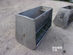 picture 1 of 4 - two 50 inch stainless steel double sided AP feeders @ $90 each - welded up, but very functional feeders