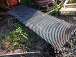 """pic 1 - 160  pieces 26 1/2"""" wide by 84"""" long  tribar sow flooring at $6 a square foot - $93 each - 2 years old"""