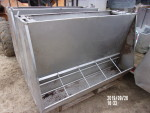 4 - 50 inch double sided stainless feeders at $ 150 each