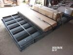 Pallet of flush pans, stands, dividers,  legs, corners, & heat mats headed to Petaluma, CA