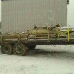8 farrowing pens and 8 floors headed out to Punxsutawney, PA on 12/28/13
