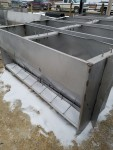 """picture 2 Staco 1 left  units  80"""" SS Double Sided Dry Feeders  225 each"""