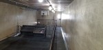 These are the pictures of the 1990 Double LL. It is a 12 x 44 building and holds about 115 nursery pigs. It has tri-bar flooring , stainless feeders, and a tin roof