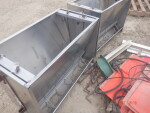 """pic 2 of 5 - 2 nursery double stainless nursery feeders - $60 each. 36 inches long,  19"""" W by 25 inches tall"""