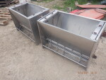 """pic 3 of 5 - 2 nursery double stainless nursery feeders - $60 each. 36 inches long,  19"""" W by 25 inches tall"""