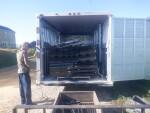 Bob May Livestock hauling dog flooring and flush pans and frames to Oklahoma