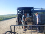 loading a trailer to Cameron, WIsc.