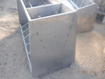 """pic 4 of 5 - $150 each -Four - 56"""" long - 7 hole double sided by 34"""" tall by 25"""" wide at bottom. These feeders would be perfect for feeding pigs from 25 to 150 pounds"""
