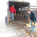 The Swensons from Sparta Wisc picking up gates