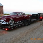 Gates headed to spanish forks UT 08 30 14  with a custom 1950 car with a 409 engine