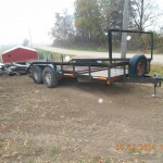 this trailer had wire flooring headed back to Iowa City