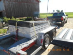 10 flush pans and stands headed to Jenera ohio with new Hampshire trucker