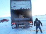 Yrc freight truck picking up Ohio and Colorado pallets