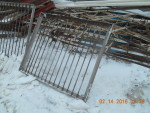 "1 gate 48"" long by 41"" tall. stainless angle iron 3 sides, vertical solid rod -  $25 each"