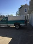 pickup and topper truck is 1995 Chevy 1500 4x4 5.7 engine 235000 miles topper is 8ft with 3 separate pens and side drop vents with one on top,