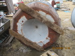 Feeder # 3 - 2 pictures Big Husky  - $350  - pic 2 of 2   - 90 Bushel (3  Rings)