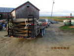 14 pans and stands to Bloomfield, IA