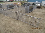 Stainless steel vertical rod gating set up 19 feet deep by 40 feet long