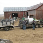 Trailer headed back to Colfax WI on April 6th