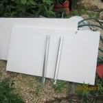 "new plastic pvc dividers by 37 "" long at $15 each and channel is $3"