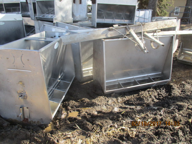 "1 - 50"" by 4 hole double sided feeders by 36"" tall - 4150 each"