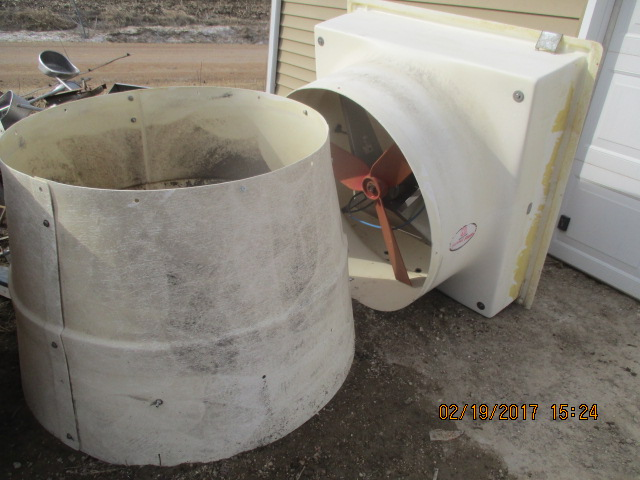 "pic 1 -- 2 - 36"" 850 Rpm  Hire hand 1/3 hp  42 1/2"" rough opening  $200 each"