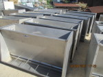 "pic 7 - only 1 left - 50"" double side grower feeders 31"" tall by 25' wide @ $150 each"