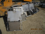 """5 all stainless steel farrowing head gates -$40 each 21 1/2"""" wide by 25"""" 1/2"""" tall with removable 15"""" sow feeder"""