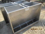 "2 - 4 hole hog slat double sided  feeders - 50 1/2"" by 24"" wide by 36"" tall - $150 each Real nice"