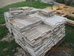 "2 pallets  of Double L  flooring 264 pieces @ 1ft by 2 ft @ $1.50 and 25 pieces 1 ft by 16"" long"