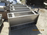 "Pic 2 8 units - 48"" double sided  stainless steel feeders - 18"" wide by 25"" tall @ $110 each , heavy duty and in real nice shape"