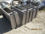 "Pic 3  8 units - 48"" double sided  stainless steel feeders - 18"" wide by 25"" tall @ $110 each , heavy duty and in real nice shape"