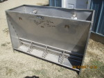 "pic 1 -- 2 - 56"" long double sided Stainless steel Vittetoe feeders - $175 each"
