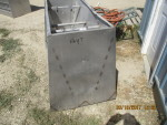 "pic 2 -- 2 - 56"" long double sided Stainless steel Vittetoe feeders - $175 each"