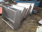 "2 left -- picture 1 - 4 -  40"" single sided feeders for pigs 30 pounds and larger - $160 each"
