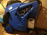 Nilfisk (formerly KEW) hot water pressure washer. It has an 8 hp motor, puts out 5gpm at 2200 psi.  I bought new for $5850 in 2012.   I have 2 25 foot extension hoses and the adjustable-pressure gun\wand with whirlybird that goes with it.